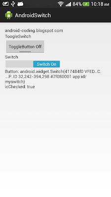 ToggleButton and Switch
