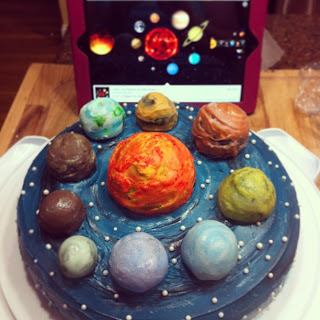 Planetary Cake www.thesweetchick.com
