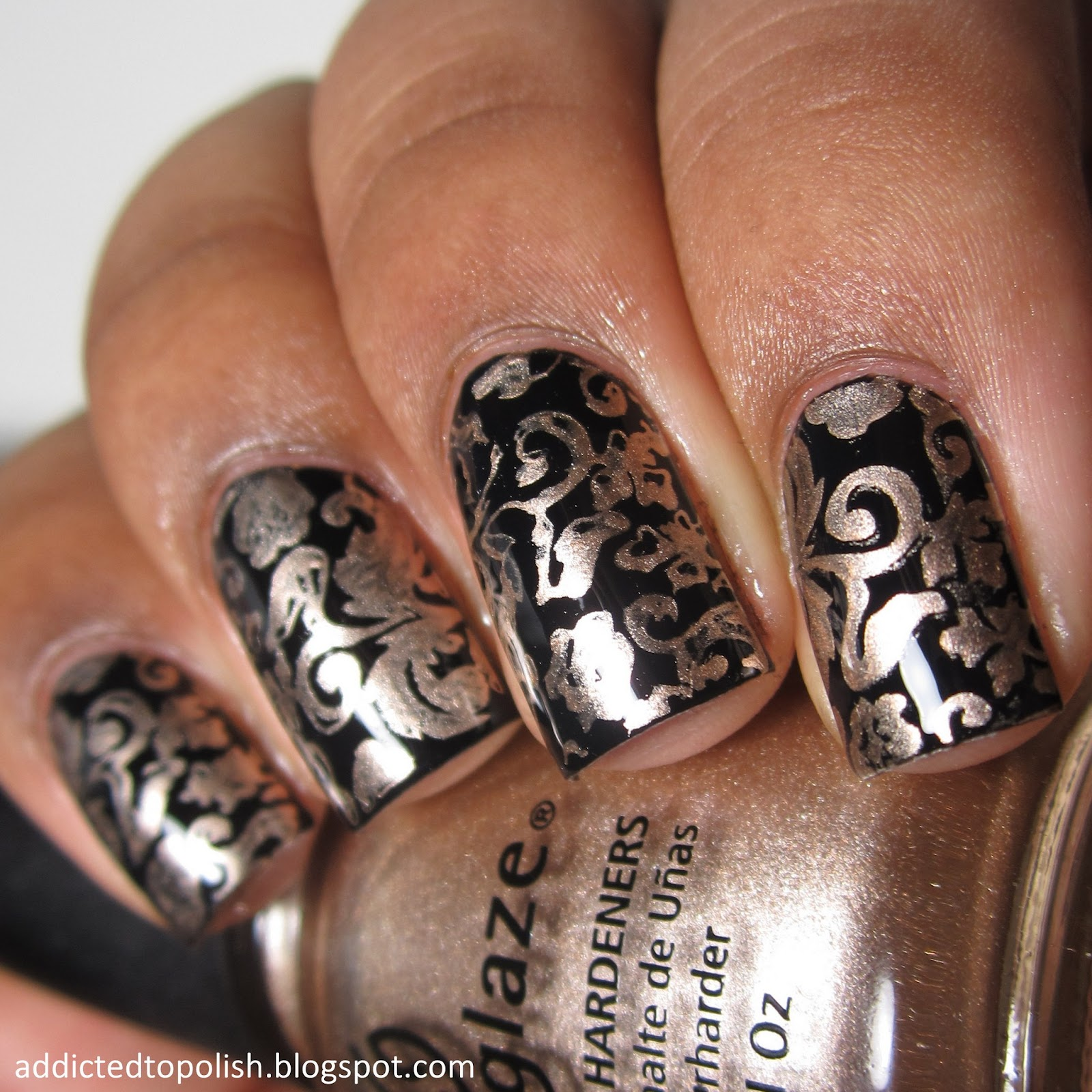 black gold stamping zoya willa china glaze 2030