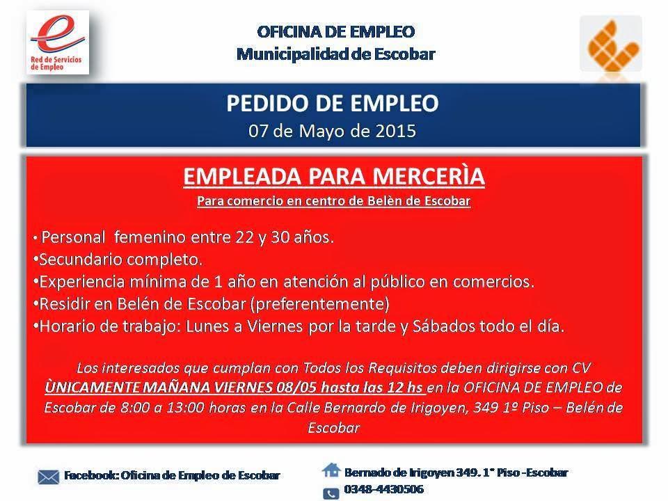 Oferta semanal de empleos y capacitaciones for Oficina electronica de empleo