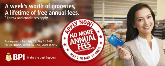 BPI Express Credit Card: Enjoy lifetime waiver of annual fees with!