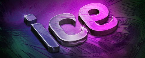 Slick 3D Ice Text Effect