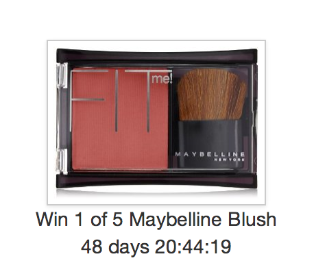 Enter to win one of 5 Maybelline Blush Compacts