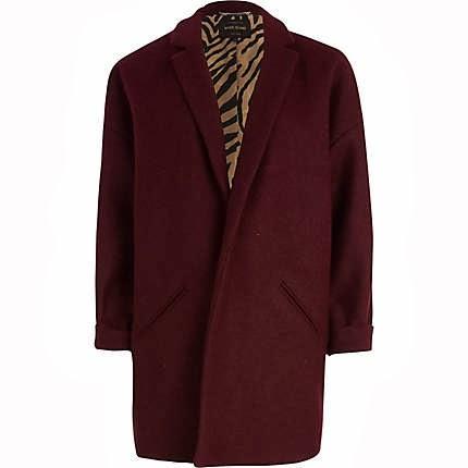 dark red coat