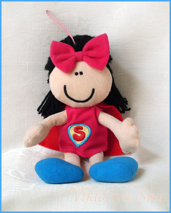 текстильная куколка Супер-кукла