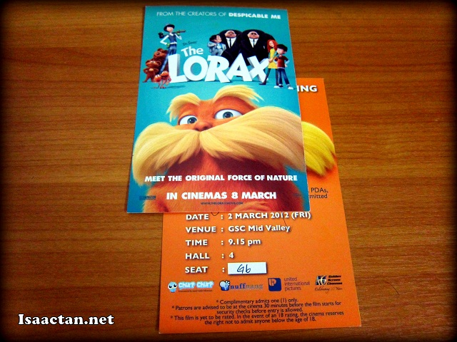 The Lorax 2012 Review