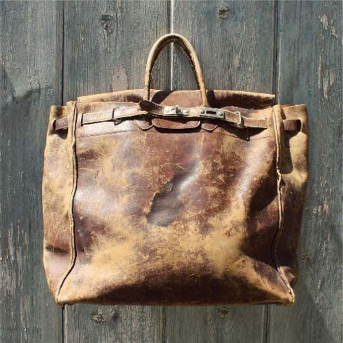 Leather Tote Bag Distressed