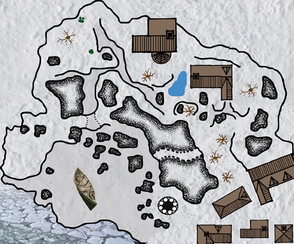 Free Map 022: A Small Iced-In Fishing Village