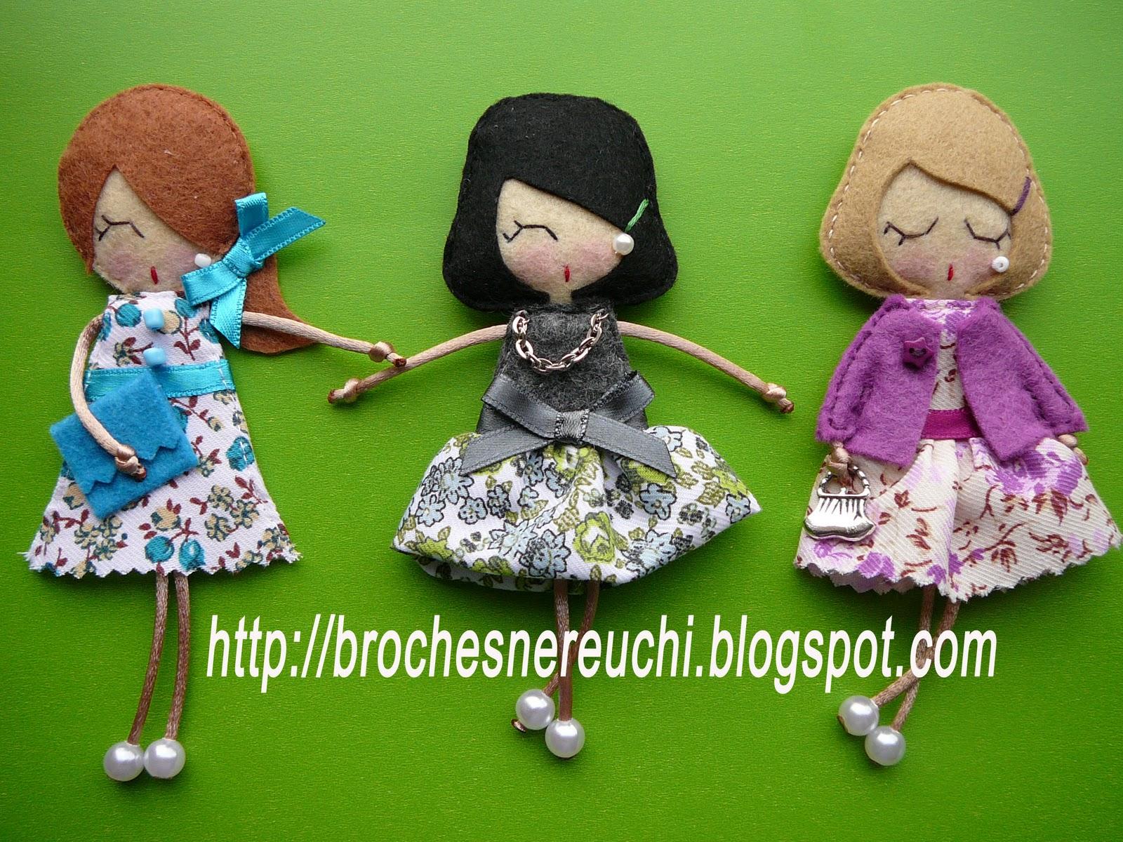 Куколки-брелки из фетра своими руками 70