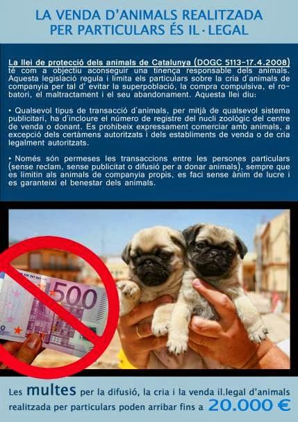 Catalunya: ¿Quieres concienciar para acabar con la cría y venta de animales de particulares?