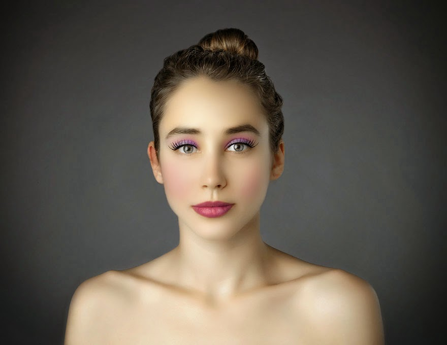 GREECE - Woman Had Her Face Photoshopped In More Than 25 Countries To Compare Their Beauty Standards