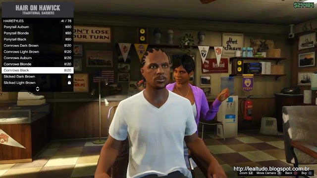 Grand Theft Auto Online Haircut Barber Woman Hairstyles - Corte de Cabelo Mulher Barbeiro