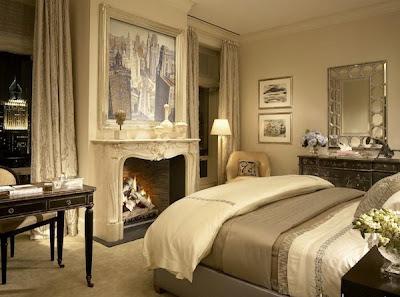 habitaciones con muebles crema