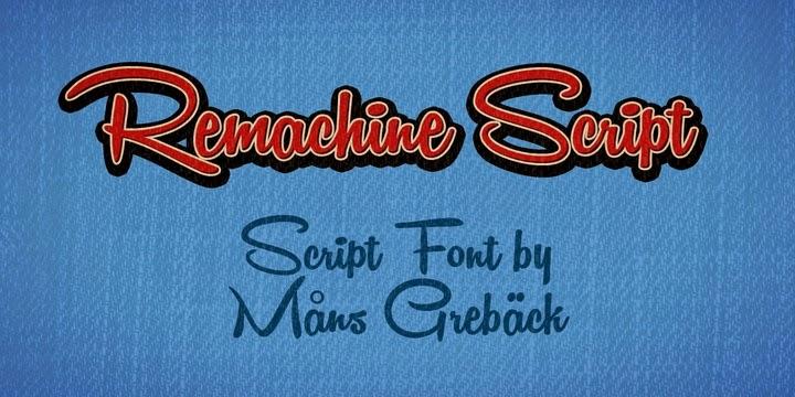 تحميل خط Remachine Script مجانا { خطوط }