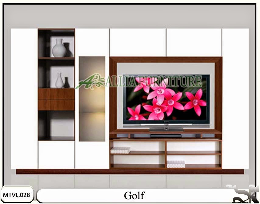 Lemari hias model tv lcd minimalis Golf