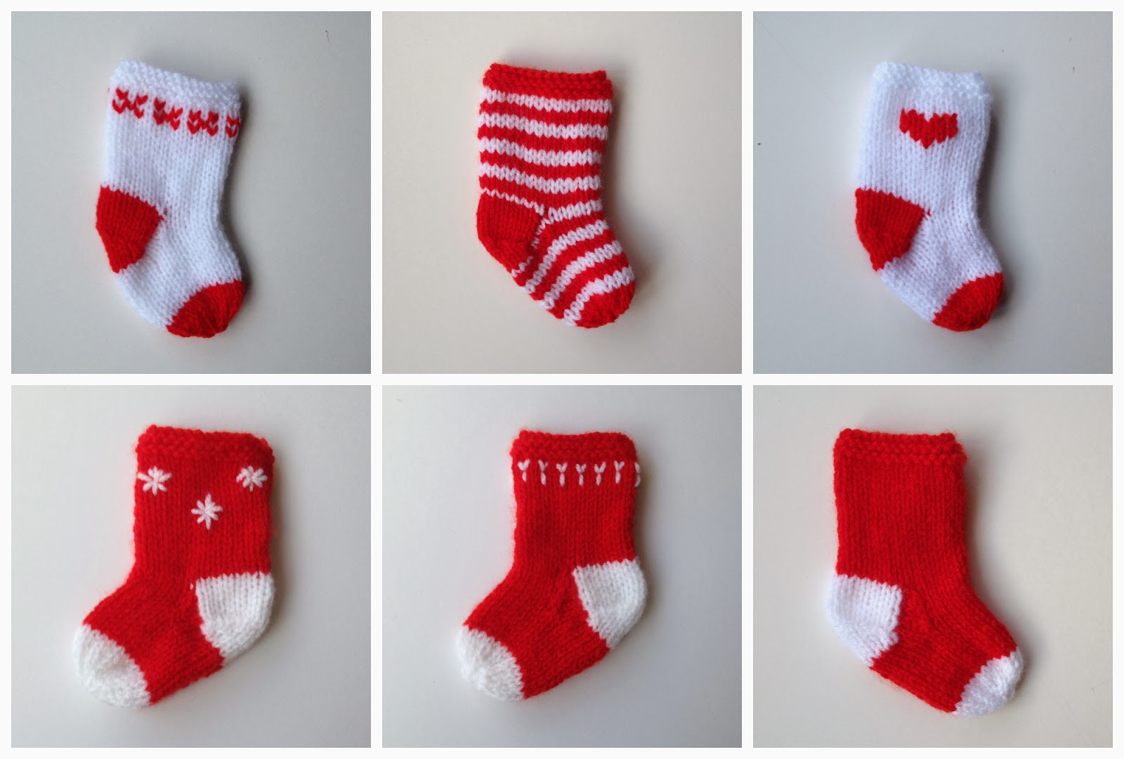 Knit Christmas Stocking Patterns Free : Mack and Mabel: Little Christmas Stockings Knitting Pattern