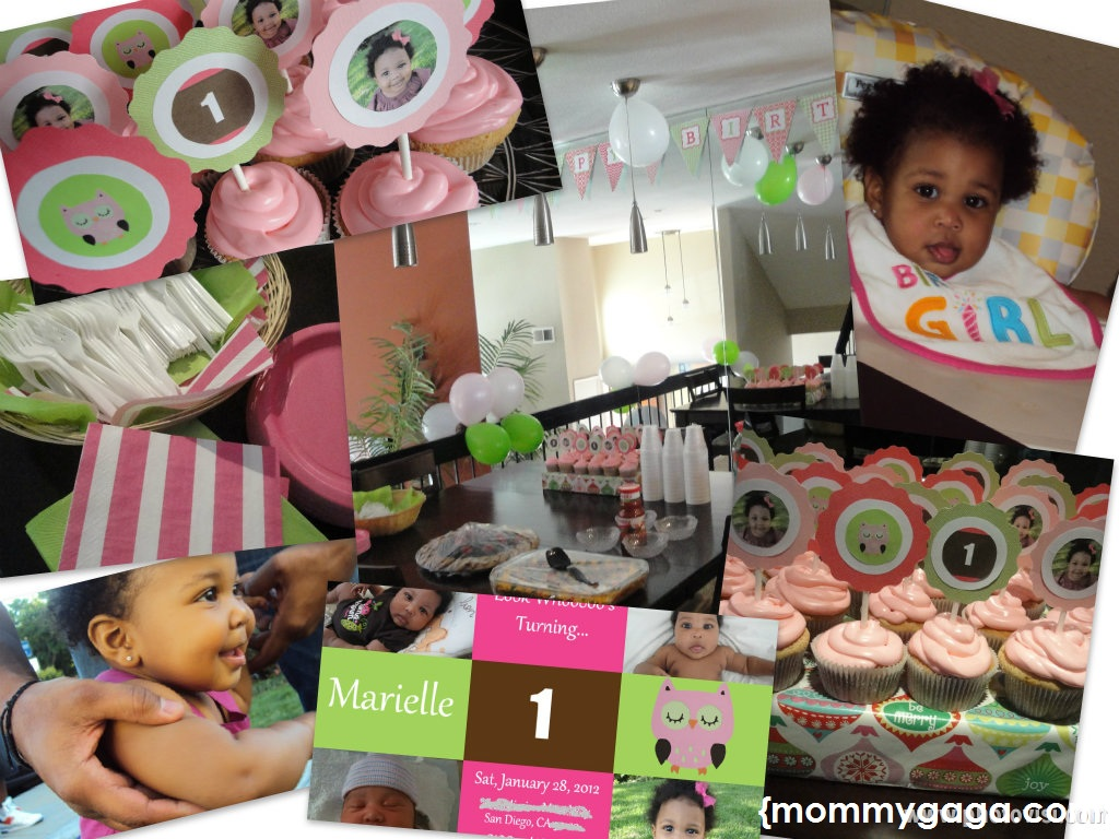 Girls First Birthday Party Ideas Pink and Green Owl Theme Party