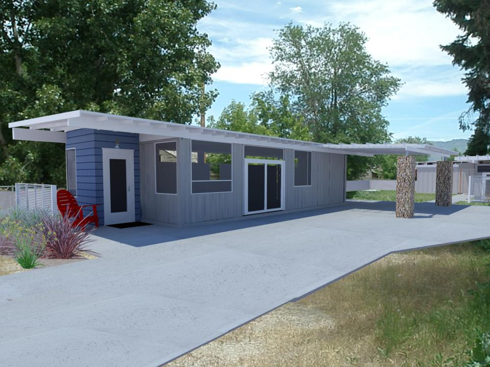 Shipping container homes 2x 40ft shipping container home sarah house project glendale - Shipping container homes utah ...