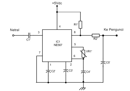 alat pengontrol peralatan listrik melalui jala jala pln