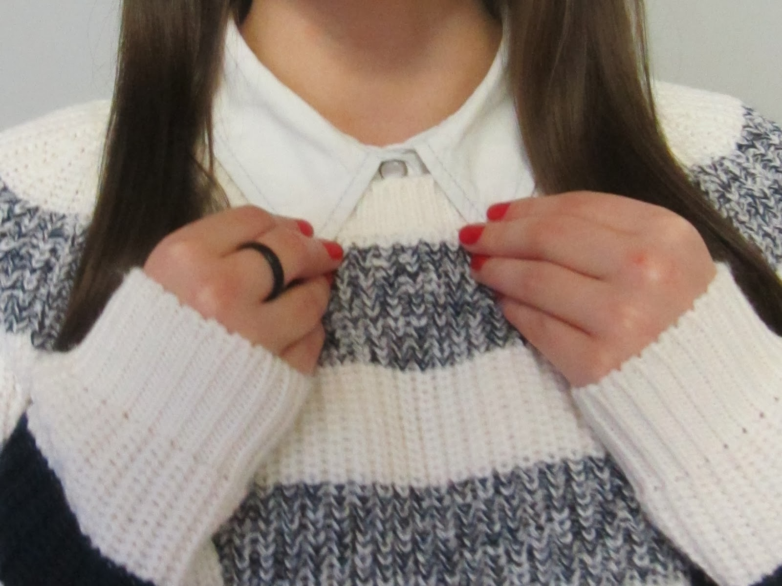 Clothes & Dreams: New in: Jumper. Striped. Ombre. LOVE: detail of outfit