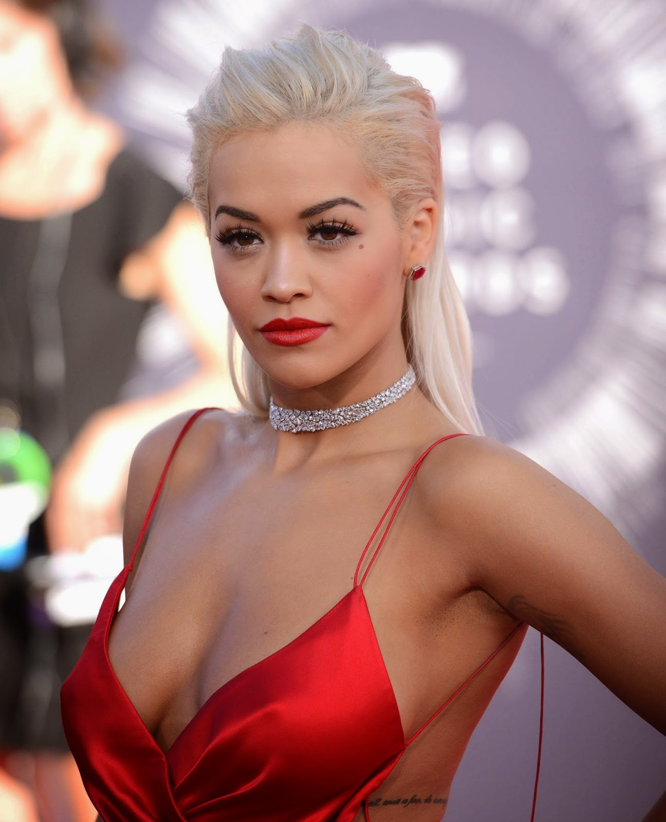 Rita Ora Red Dress