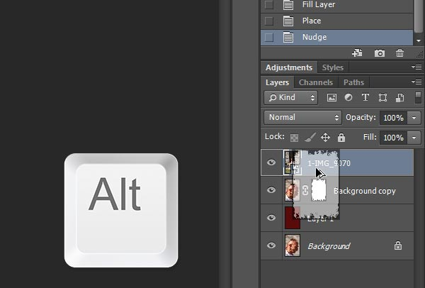 how to cut and copy an image in photoshop