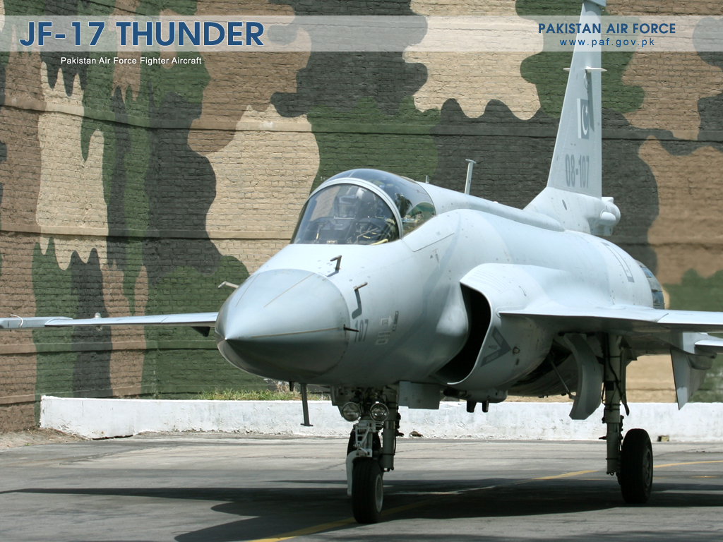 Pakistan Air Force JF-17 Parked At Base Wallpaper