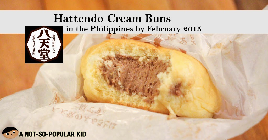 Hattendo Cream Buns Available in the Philippines by February 2015 in Mall of Asia