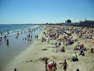 Beach at Old Orchard Beach, Maine