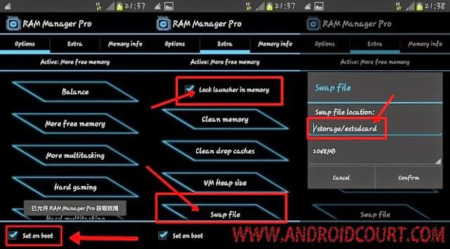 Cara Menambahkan RAM Android Dengan RAM Manager Pro