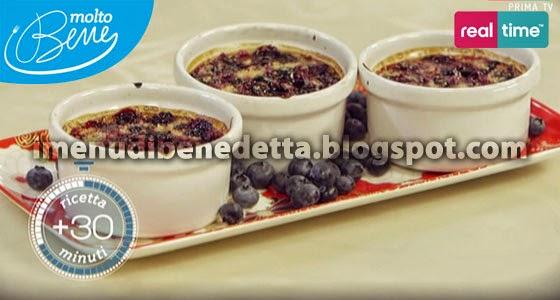 Crème Brûlée ai Mirtilli di Benedetta Parodi