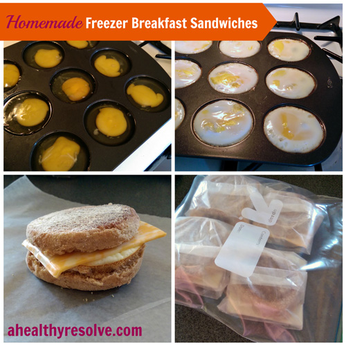 Easy to make ahead - Homemade Freezer Breakfast Sandwiches