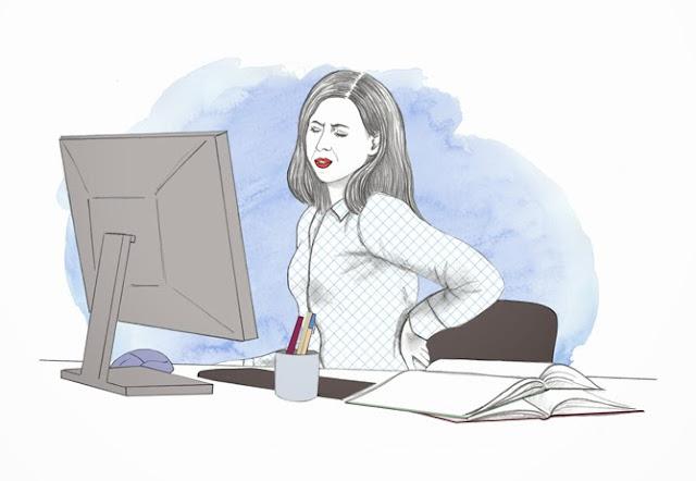 cwiczenia przy biurku