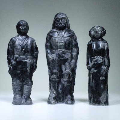 "Star Wars ""Relics"" Resin Figures by HealeyMade - Luke Skywalker, Darth Vader & Princess Leia"