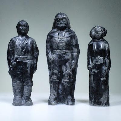 "Star Wars ""Relics"" Resin Figures by HealeyMade - Luke Skywalker, Darth Vader & Princess Leia"