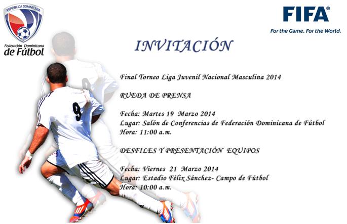 Rueda de Prensa Federación Dominicana de Fútbol