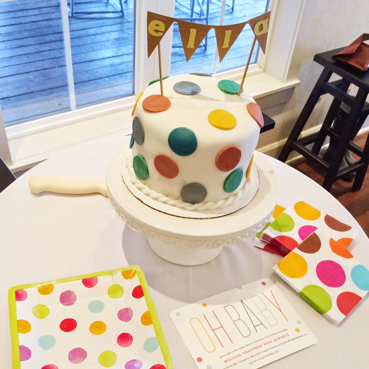 and hosting my friend 39 s confetti themed baby shower this past sunday