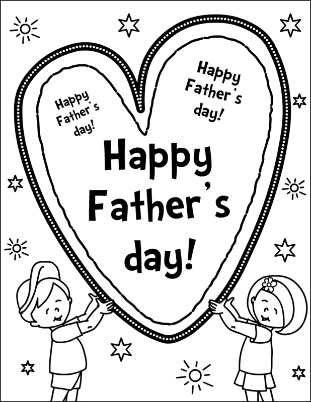 ... Verse Greetings Card & Wallpapers Free: Fathers Day Kids Coloring Page