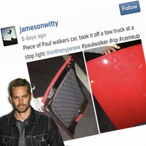 Lelaki di Tangkap Kerana Mencuri Serpihan Porsche Paul Walker