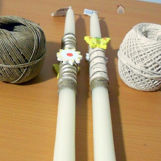 Φτιάχνοντας Πασχαλινές Λαμπάδες με σχοινιά