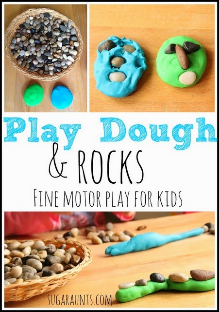 Create and explore proprioception with kids in this fine motor activity with play dough