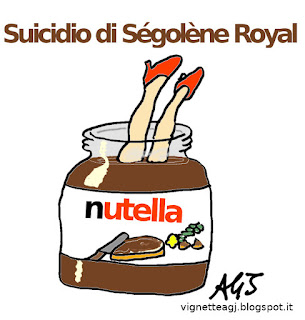 Segolene Royal, nutella satira vignetta