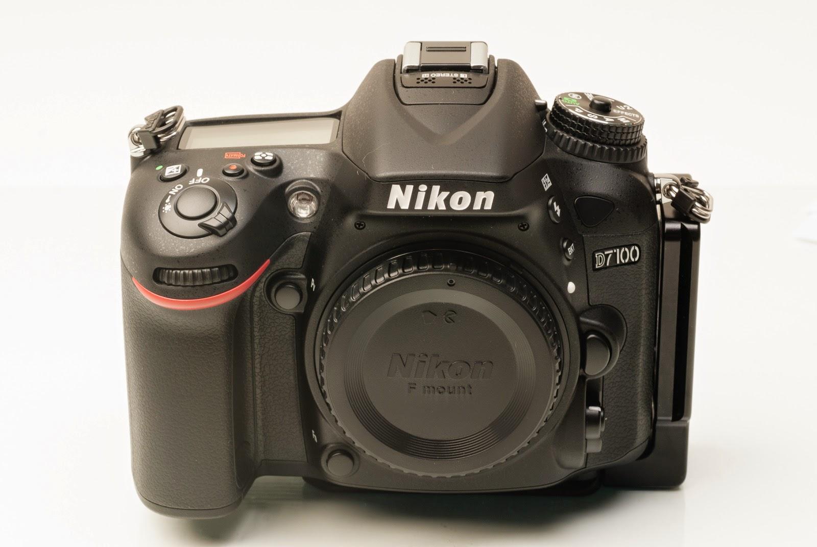 Nikon D7100 w/ ND-7100 L bracket - front
