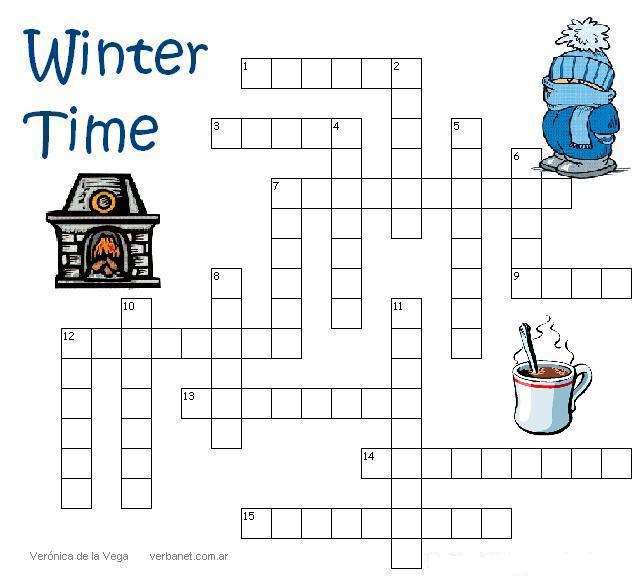 Winter Crossword Crossword: winter time - the