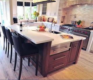 Revestimientos para cocinas cocinasintegrales modernas for Cajoneras de madera para cocina
