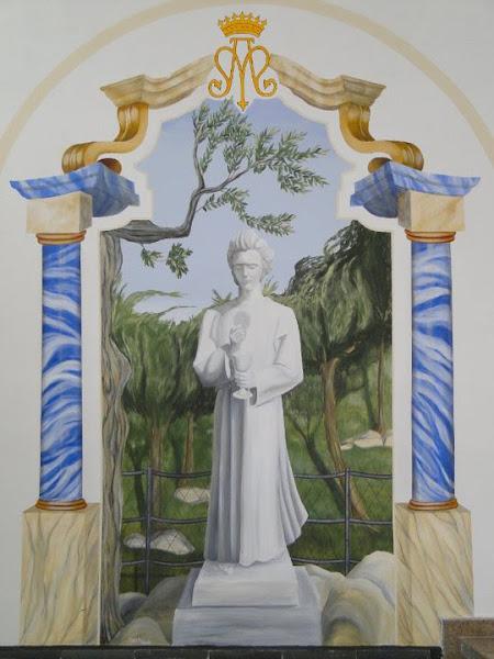 Anjo de Portugal - Encáustica fria - Jandira - Igreja Nossa Senhora de Fátima