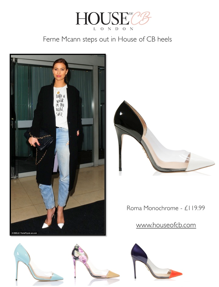 6485f3ca7d1 frumpy to funky  Ferne Mcann steps out in House of CB heels