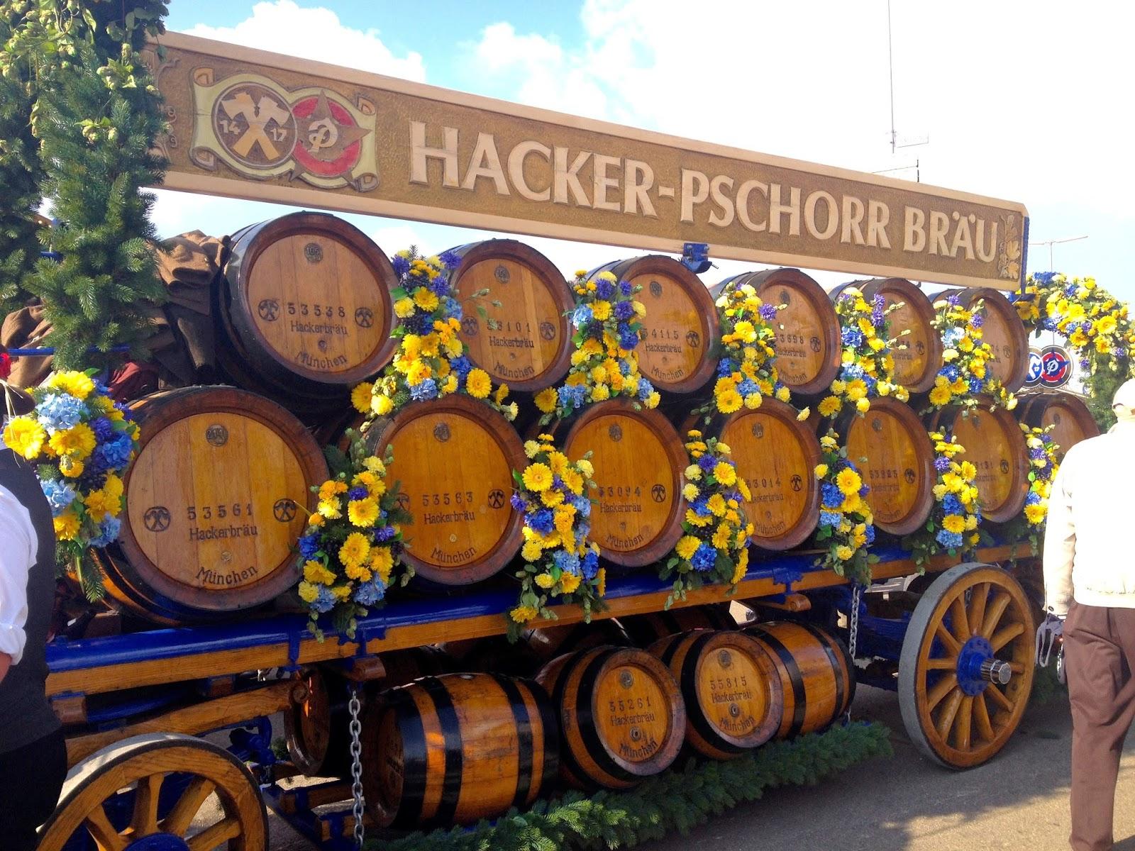 Hacker Pschorr Kegs Oktoberfest