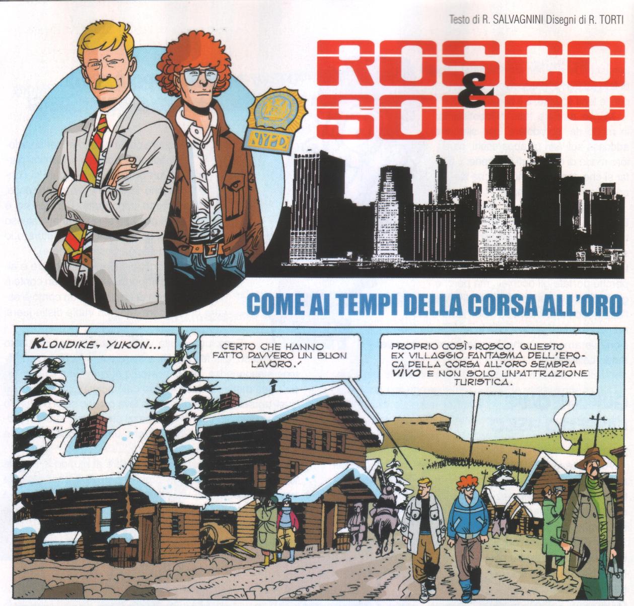 La prima pagina di un'avventura di Rosso e Sonny