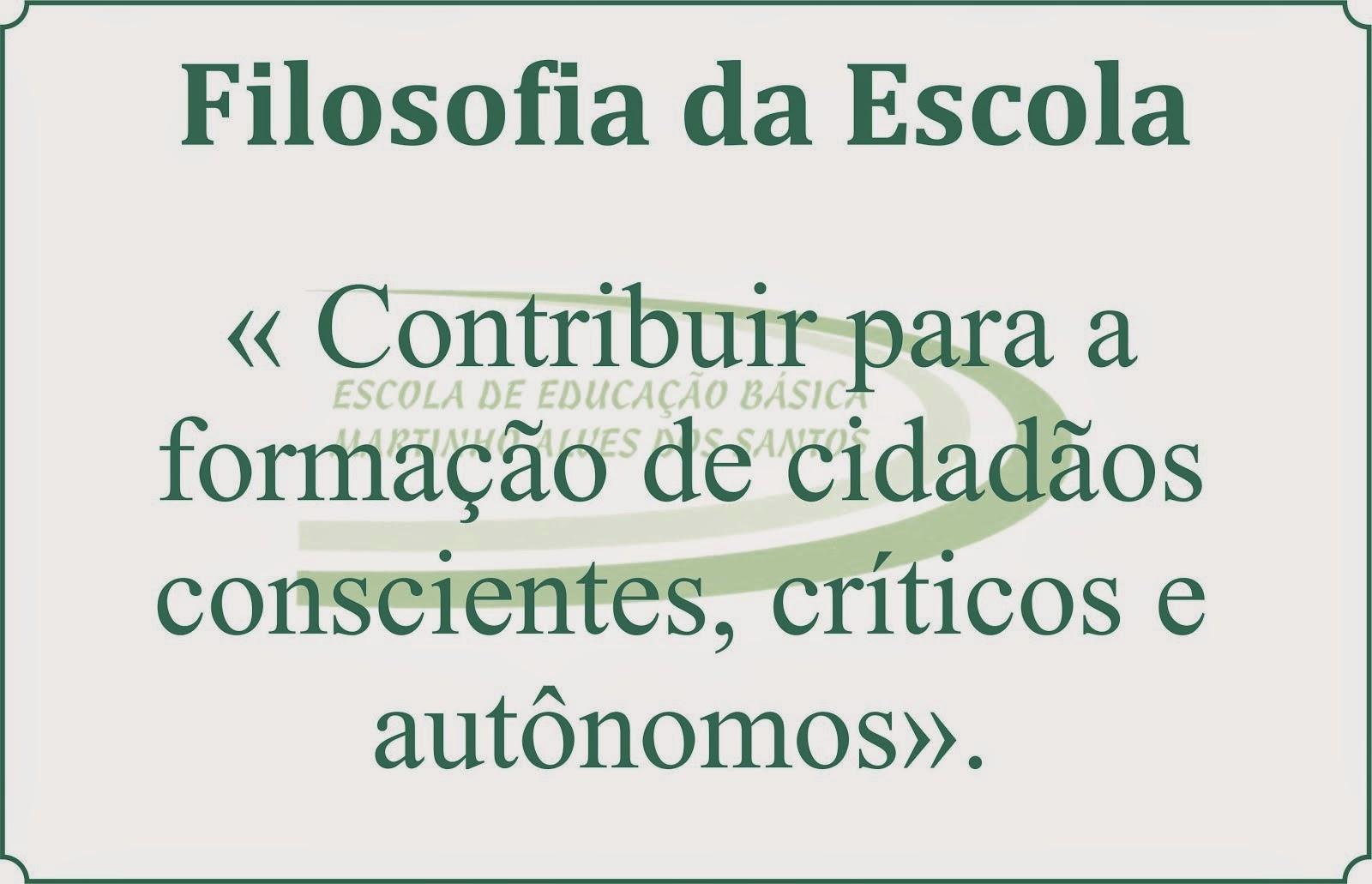 Filosofia da Escola